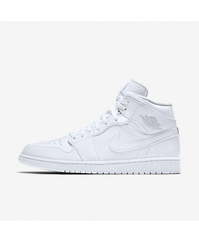Nike - Air Jordan 1 - Baskets mi-hautes - Blanc 554724-104 - BlancNike 32vgx