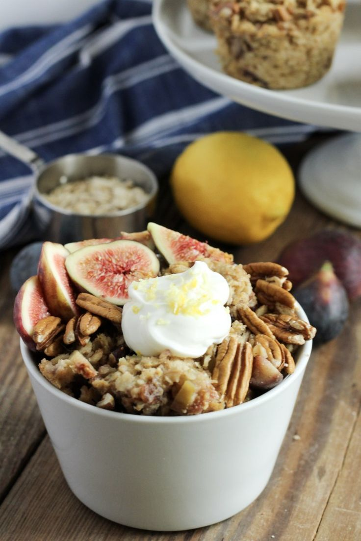 Lemon and Fig Baked Oatmeal Cups