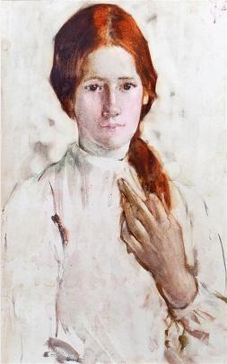 Frances Hodgkins, Babette, 1905, watercolour on paper. COLLECTION OF THE DOWSE ART MUSEUM.