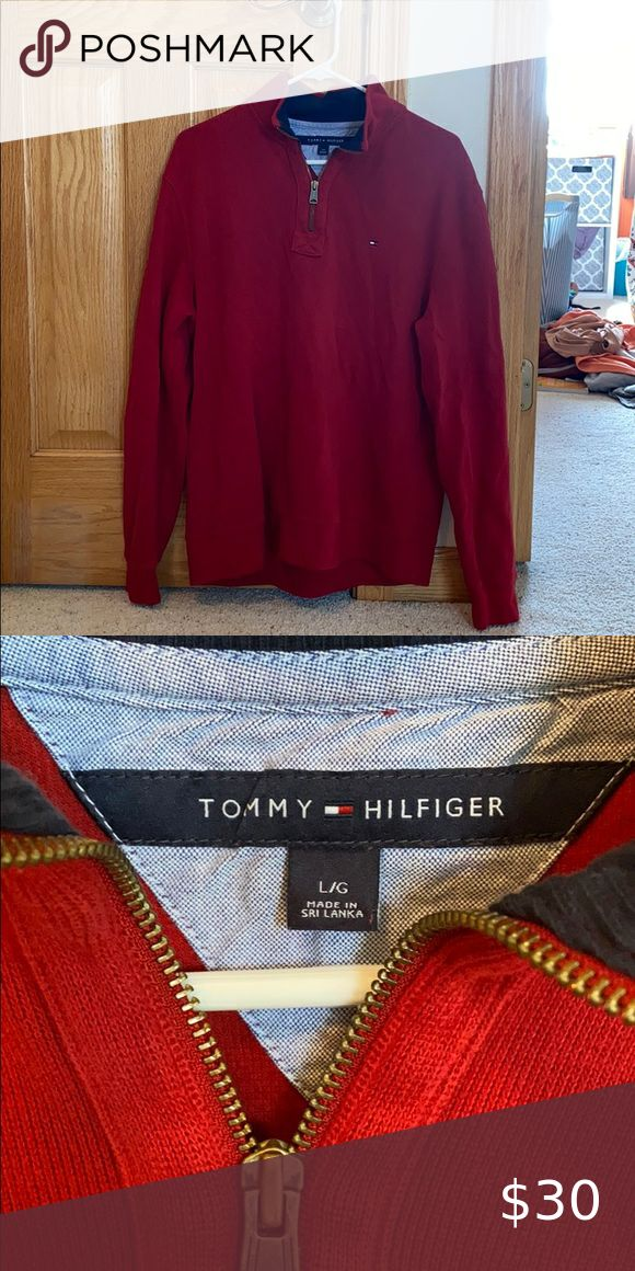Tommy Hilfiger Sweater 1/4 Zip in 2020 Tommy hilfiger