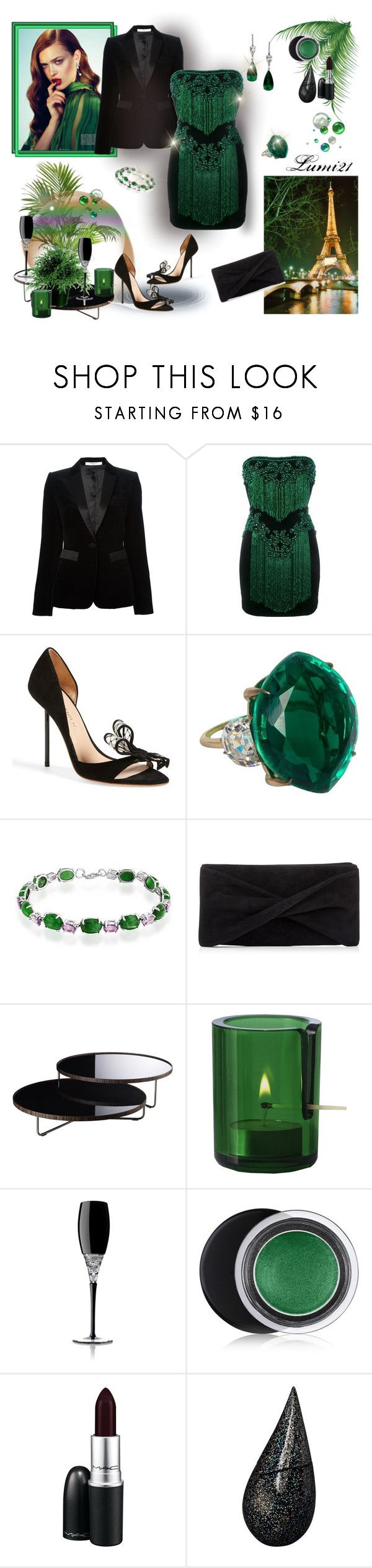 """party"" by lumi-21 ❤ liked on Polyvore featuring Givenchy, Balmain, Kurt Geiger, Bling Jewelry, Reiss, Modloft, Muuto, Waterford, Estée Lauder and MAC Cosmetics"