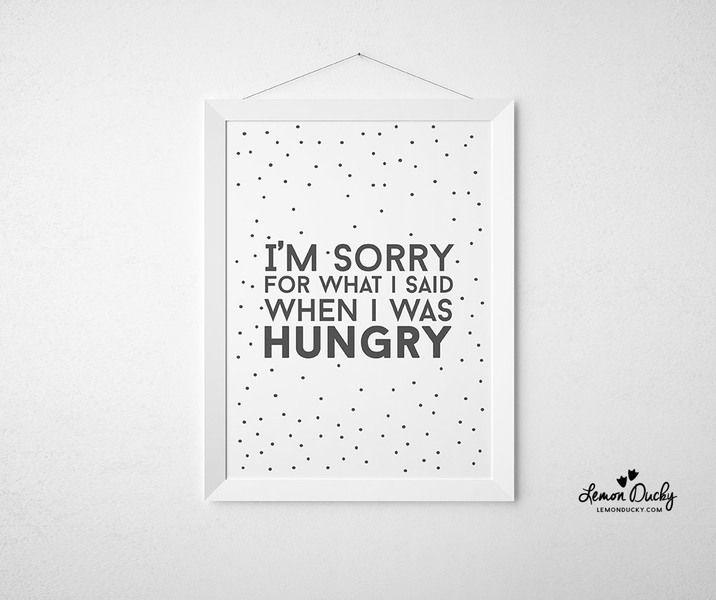 Plakat+-+I'm+sorry+for+what+I+said...+A4+w+Lemon+Ducky+na+DaWanda.com