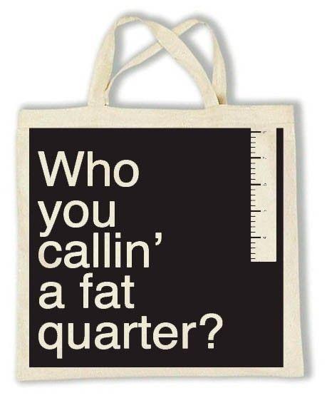Black FAT QUARTER Tote, back in my shop.