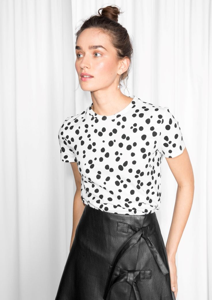 & Other Stories image 2 of Polkadot T-Shirt in White