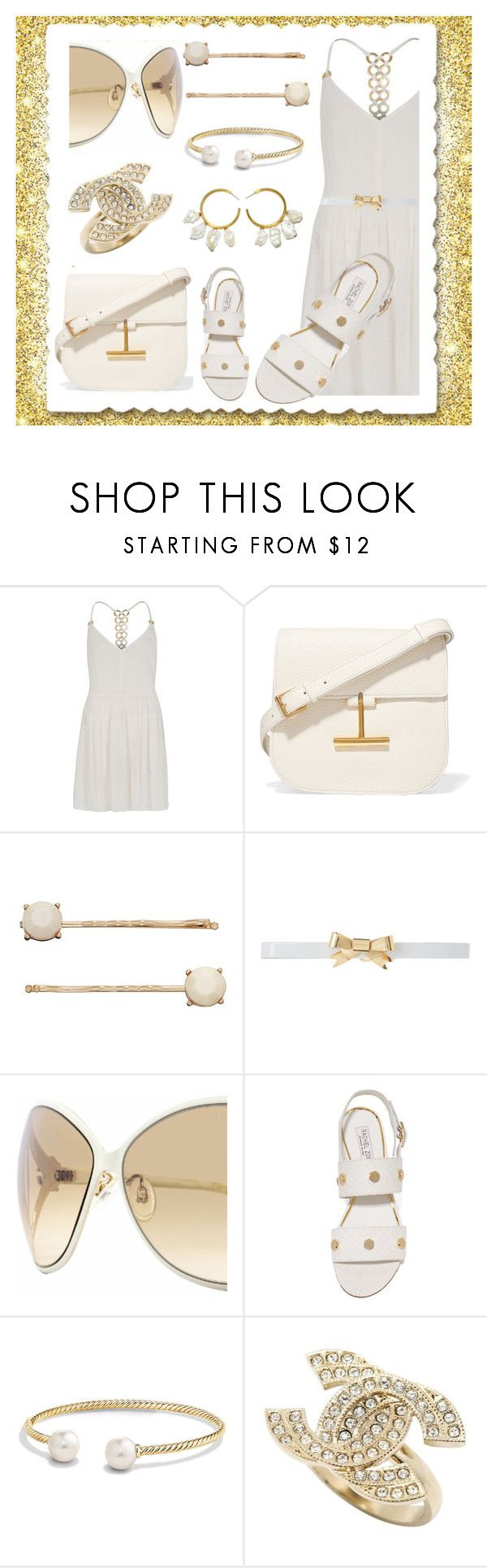 """""""Give it your Gold Stamp!"""" by kelli-bailey-ouimet ❤ liked on Polyvore featuring River Island, Tom Ford, LC Lauren Conrad, Rodarte, Roberto Cavalli, Rachel Zoe, David Yurman, Chanel and Lizzie Fortunato"""