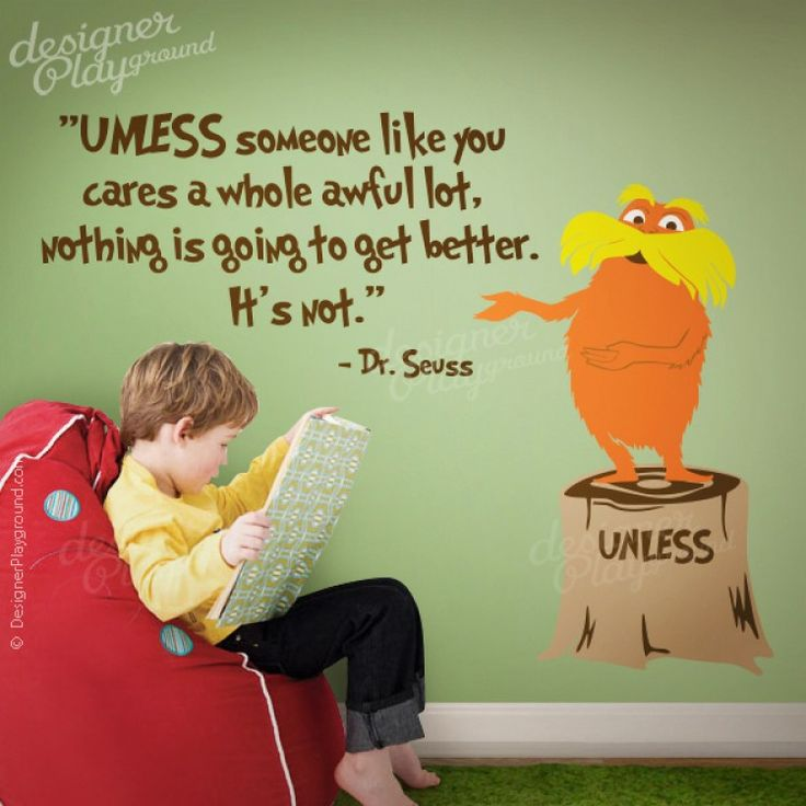 Unless Tree Stump With Quote And Lorax Dr Seuss Character. Tree Wall DecalsLoraxTree  ...