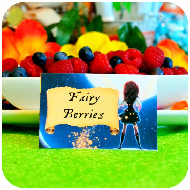 Disney Pirate Fairy Party - Fairy Berries Food on Etsy with Kraftsbykaleigh #kraftsbykaleigh #disneypiratefairy #tinkerbell