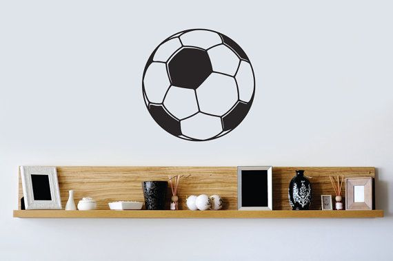 Wall Decals Soccer Ball calcio casa vinile Decal Sticker Kids Nursery Baby Room Decor 659