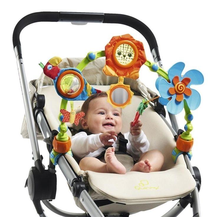 O Arco Natureza Musical é uma ótima opção para distrair o bebê durante os passeios.  Possue Papagaio chocalho, Leão com textura crocante, Hélice ativada pelo bebê e a Flor espelho.  Compre pelo site www.missybaby.com.br