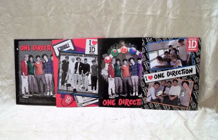 4 One Direction Notebook Binder Folders 1D New & Different Designs
