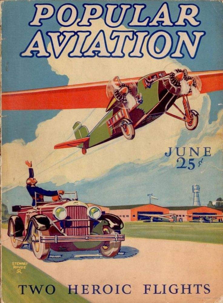 Flying Magazine's June 1928 Cover #vintage #aviation #flying