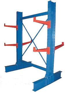 Cantilever Racking For Sale Cantilever racks offer construction and industry a powerful material-handling tools that requires no external bracing. A cantilever rack features either single upright or double upright design that allows for storage of oddly shaped materials or supplies with exceptionally long measurements. Easy Rack supplies medium duty and heavy-duty cantilever racks to construction and storage facilities nationwide. We carry used models for contractors on a Budget.
