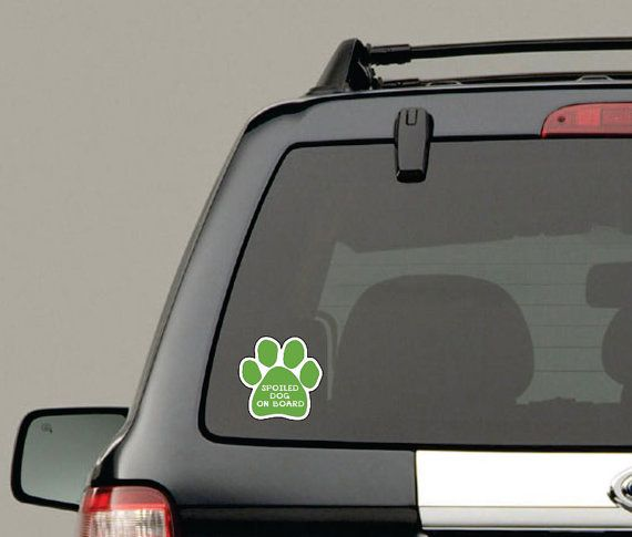 Pet on board vehicle decals vinyl sticker graphics x