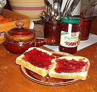 Lingonberry jam, which is sold at IKEA stores.  Lingonberries are common in Scandinavian cuisine, and using jelly in recipes may be a nice way to incorporate this into SCA recipes.