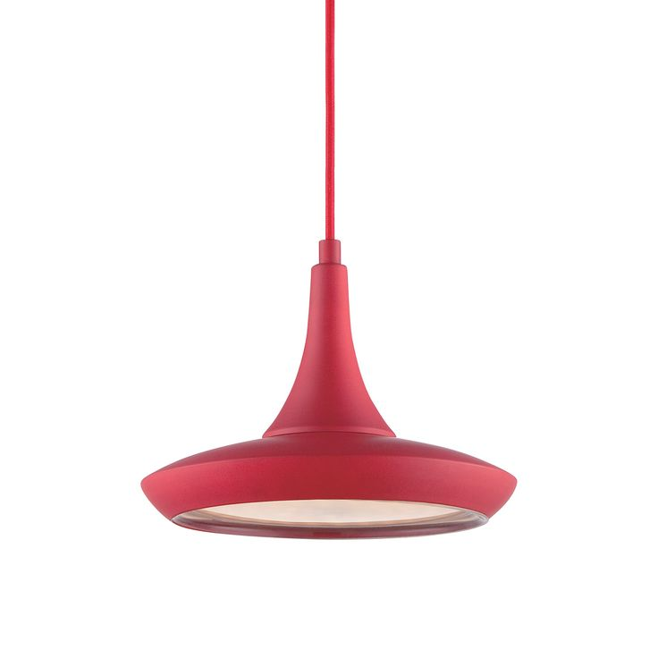 Lighten things up with this playful, modern pendant lamp. In the day, it brightens your style in your choice of seven bold colors. At night, keep the party going under its energy-efficient LED bulb.  Find the Genio Pendant Lamp, as seen in the Mid-Century by the Book Collection at http://dotandbo.com/collections/mid-century-by-the-book?utm_source=pinterest&utm_medium=organic&db_sku=104371