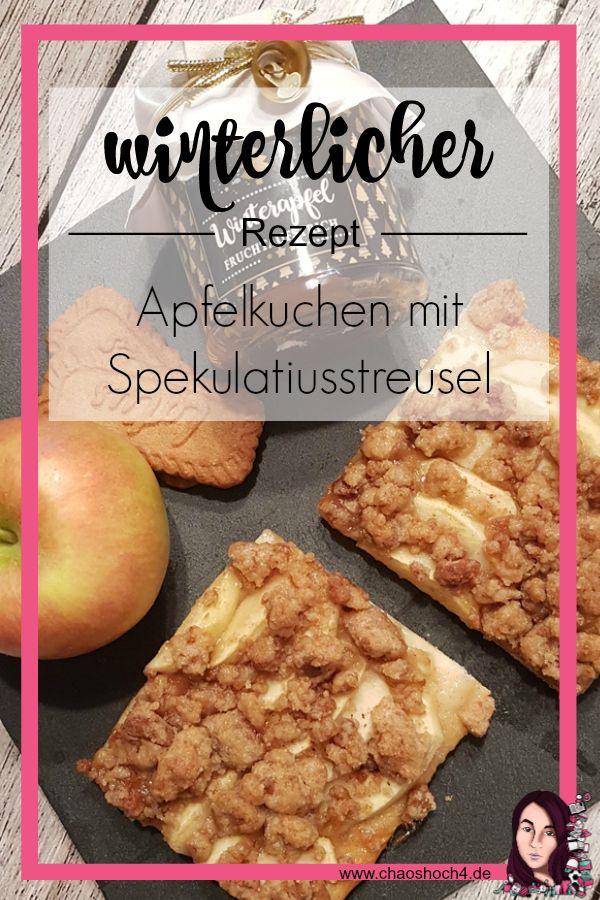 winterlicher Apfelkuchen mit Spekulatiusstreusel   Rezept ...