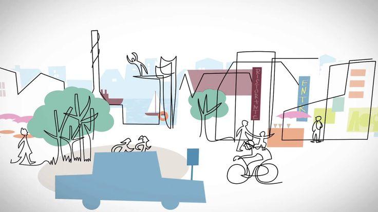 Västlänken - en pulsåder för det moderna Göteborg #Gothenburg #illustration by Lene Due Jensen | leneduejensen.com #Animation by Complete Media |  completemedia.se