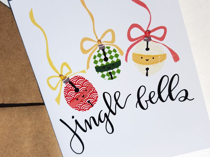 JINGLE BELLS - Card - Christmas Card - Cute Simple Pun Funny Love Handmade - For Him/Her, Friend, Just Because, Holiday, Greeting, Work by THEBRANCHANDTHEVINE on Etsy