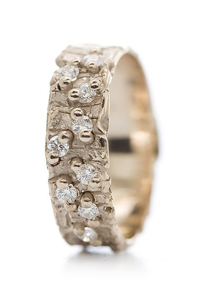 narrow golden ring with diamonds mervi smal my rings are just like my other creations simple and original