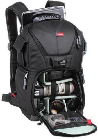 """Vivitar DKS-25 Carrying Case Backpack for 17"""" Notebook Camera - Black"""