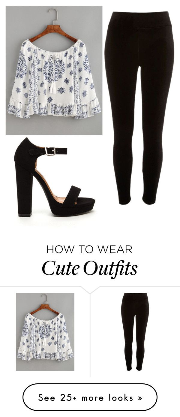 """""""Cute outfit"""" by unicorn-636 on Polyvore featuring WithChic and River Island"""