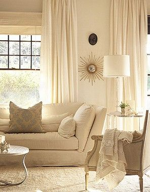 Love the warmth of the cream walls