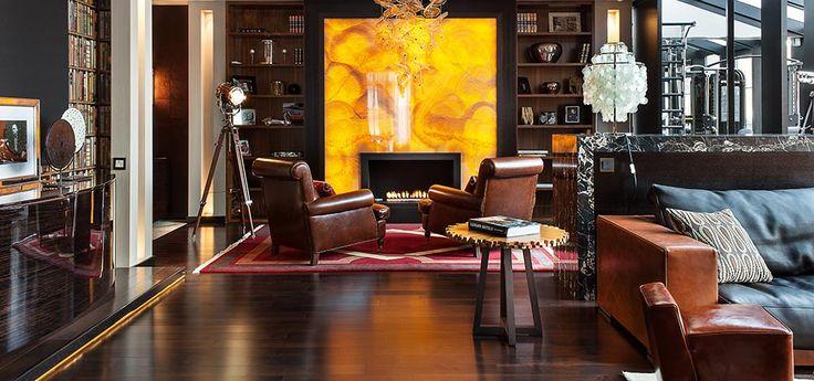 Backlit Onyx Fireplace Fireplace Pinterest