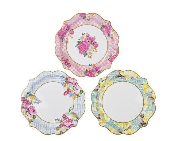Let's Partea Bridal Bathe Decor | Shall we Partea Child Bathe | Antique Tea Birthday celebration Decor | Tea Birthday celebration Paper Cups | Floral Paper Cups
