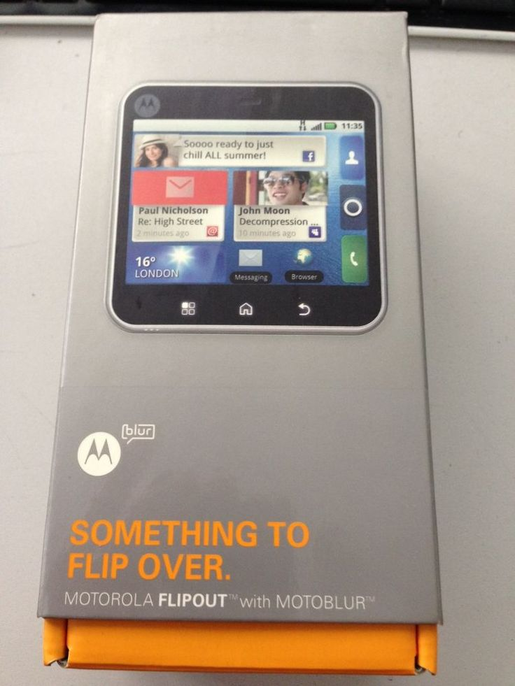 Motorola flipout black unlocked smartphone motorola
