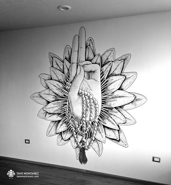Pran Mudra Mural Art / Jivana Yoga Studio on Behance