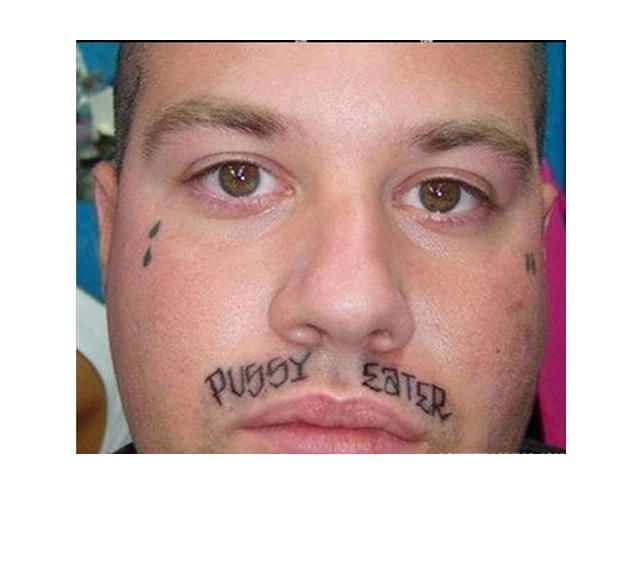 39 Tragically Bad Face Tattoos...I Can't Look Away. (Slide #44) - offbeat