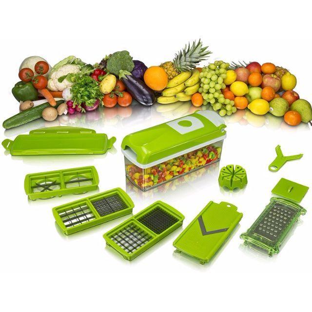 Nice Dicer PlusSering menghabiskan waktu lama di dapur karena kerepotan saat memotong atau mengiris sayur dan buah