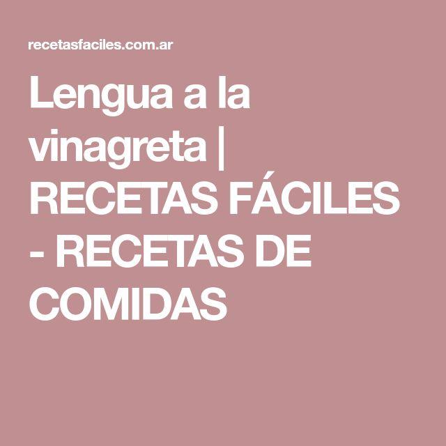 Lengua a la vinagreta   RECETAS FÁCILES - RECETAS DE COMIDAS