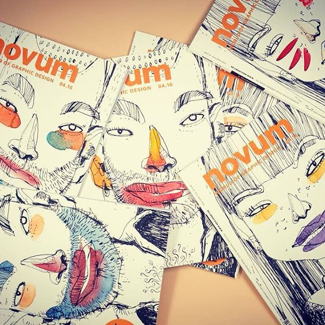 Can you imagine watercoloring unique magazine covers for a print run of 13,000!? Neither can we! Fakulty member #FelixScheinberger did just that for German graphic design magazine, Novum. We're amazed by what our fakulty do with their talents...you have to see this to believe it! #artforall #illustratedjournaling #artjournal #visualjournal #visualdiary #creativejournal #artjournaling #sketchbook #draw #drawing #365sketches #instaart #illustratedlife #alteredjournal #arttoldnew #sketchaday…