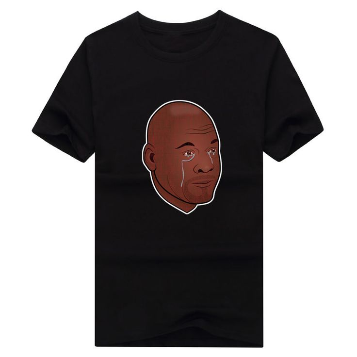 Men's Crying Michael Jordan Meme Sad Bulls Fan T-shirt