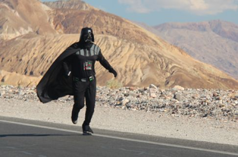 Guy dressed as Darth Vader runs Death Valley in 129-degree heat! http://cnet.co/14O7Qgw