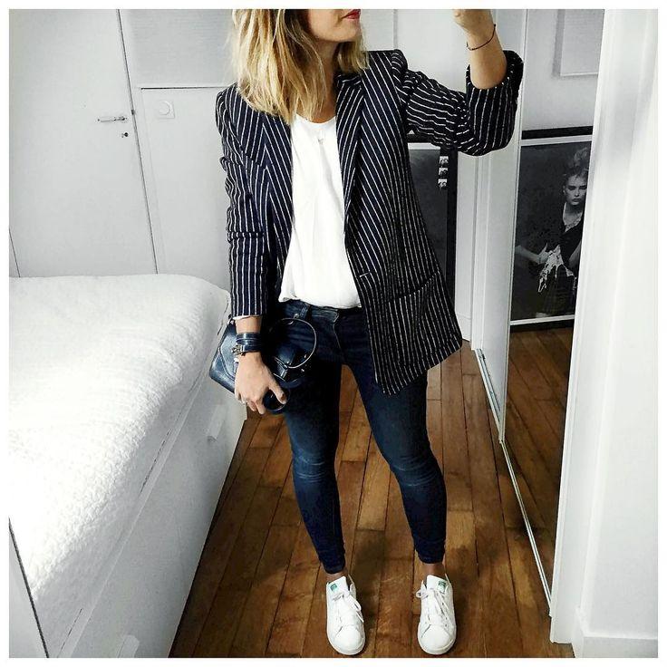 """""""Tenue en entier : • Jacket #margauxlonnberg (on @shopnextdoor) • Top #samsoe (on @cyrielleforkure) • Jean #aninebing (on @cyrielleforkure) • Hermès…"""""""