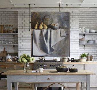 Diana Watson art work in a fabulous kitchen