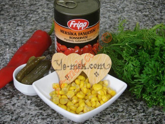 Meksika Fasulyesi Salatası Resmi, Kolay ve Resimli Nefis Yemek Tarifleri