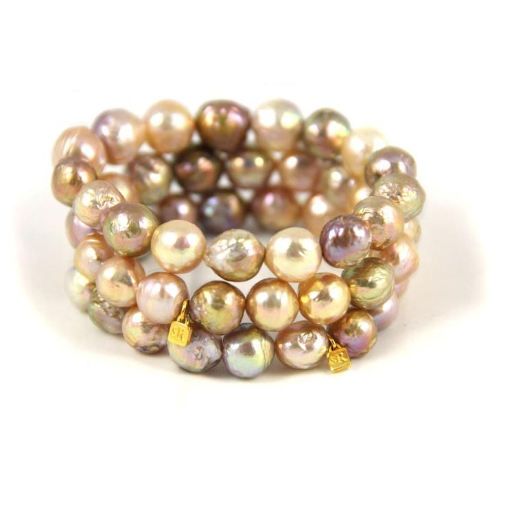 Natural Cultured Pearl Bracelets by Susan Rockefeller <3
