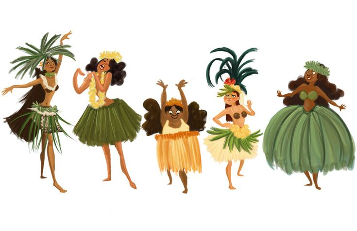Hula Girls by dinglehopper.deviantart.com on @deviantART