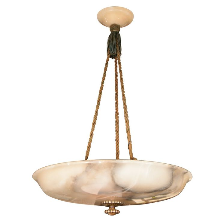 Large European Alabaster Bowl Ceiling Chandeliermodern
