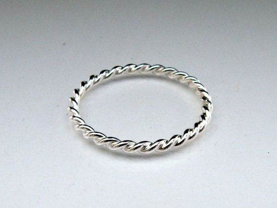 Tiny Twist Ring in Sterling Silver by LichenAndLychee on Etsy, $20.00
