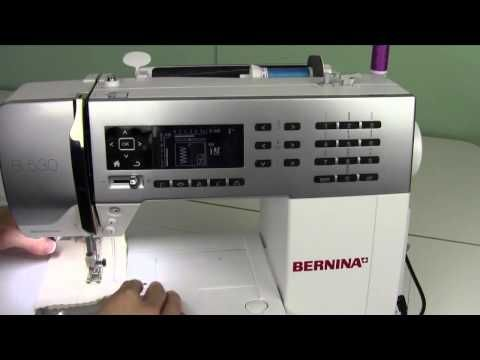 Bernina 530 62 Threading for a Double Needle