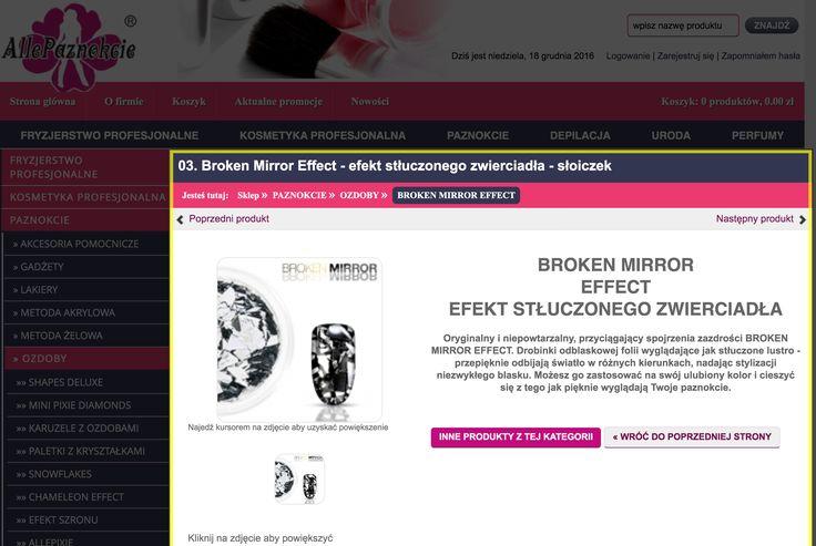 03. Broken Mirror Effect - efekt stłuczonego zwierciadła - słoiczek