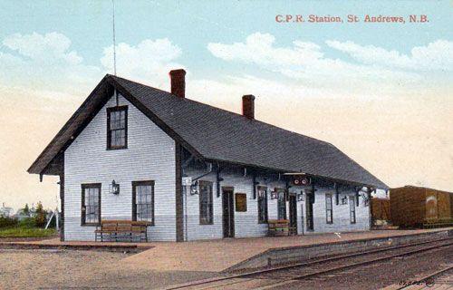 Railway stations in St Andrews New Brunswick