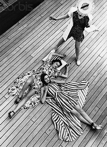 Stripes and florals are summer style essentials. photo by Norman Parkinson