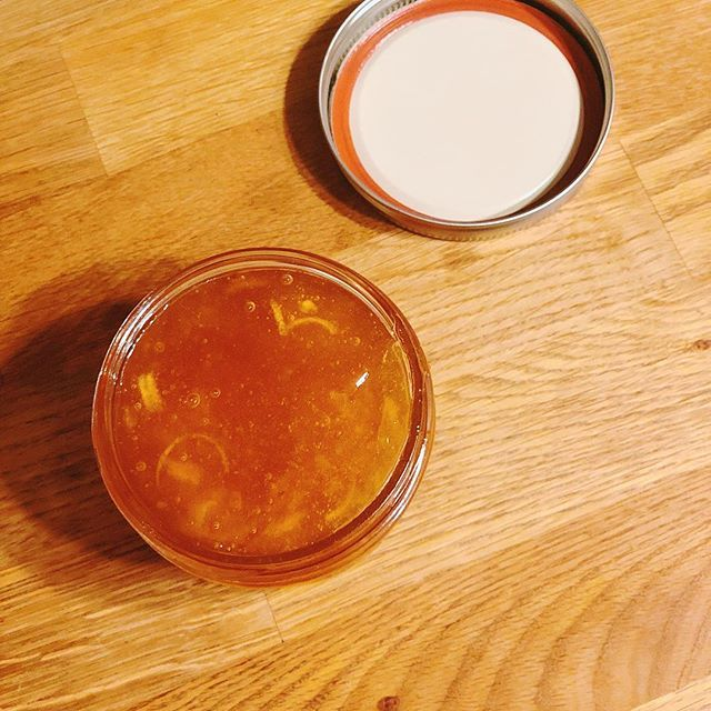 Homemade tangerine grapefruit marmalade. First attempt at a marmalade! #ladymarmalade