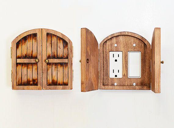 1000 ideas about door coverings on pinterest patio door for Wooden fairy doors to decorate