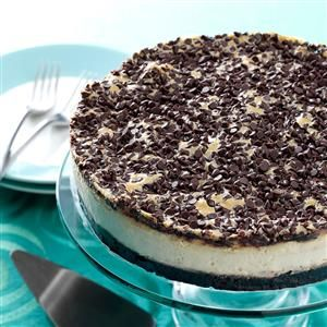 Mocha Chocolate Chip Cheesecake Recipe -Childhood food memories always bring me back to a special time. This is one of my mom's outstanding desserts, which she often served.—Cara Langer, Overland Park, Kansas
